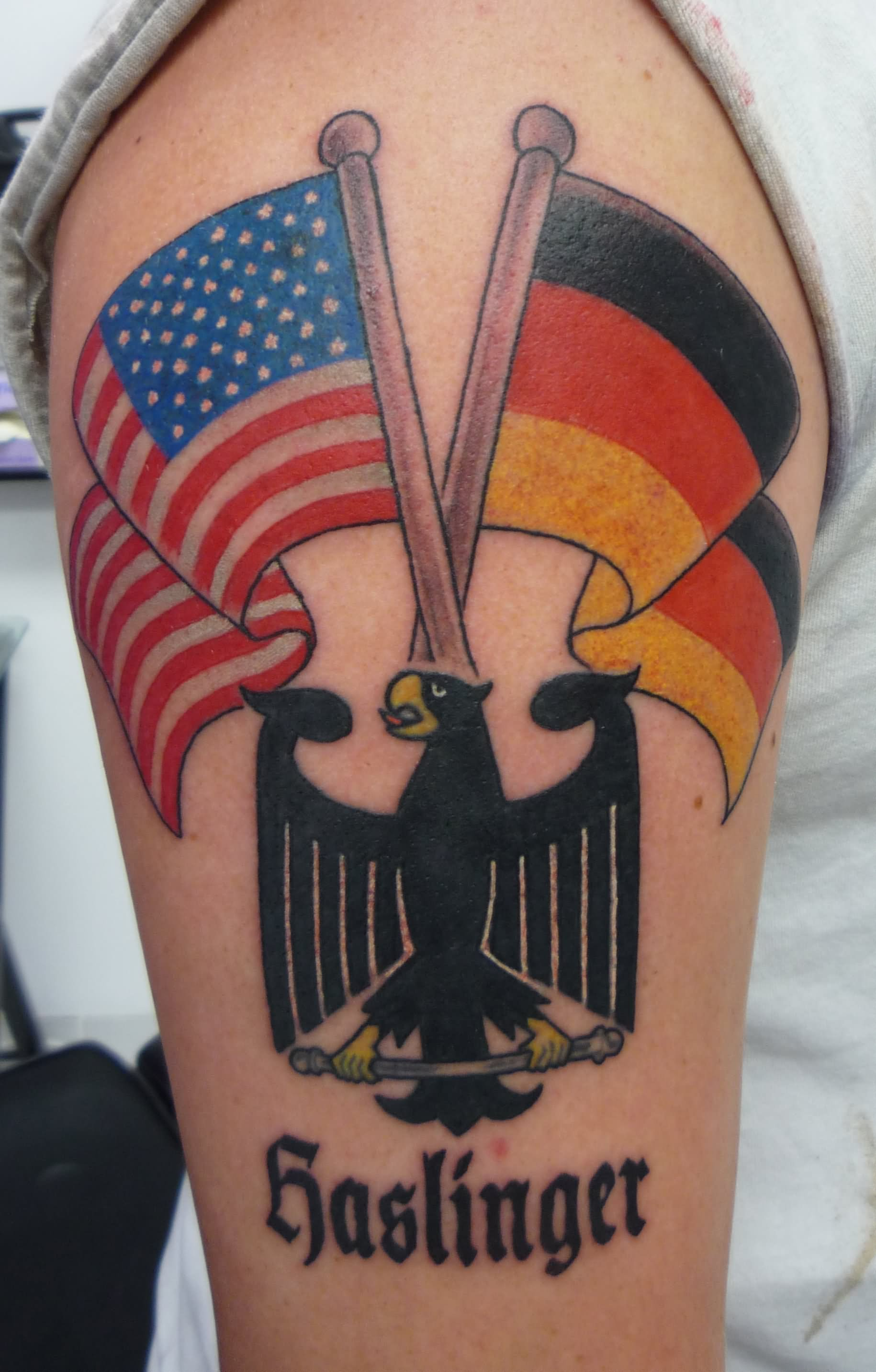 100 incredible american tattoos eagle with germany and american flag tattoo on half sleeve buycottarizona
