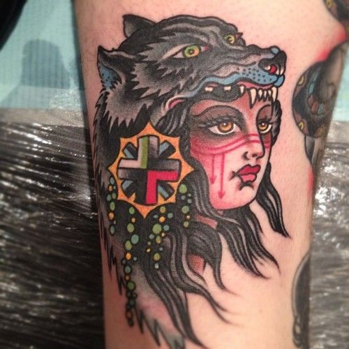 100 incredible american tattoos for Wolf head tattoos