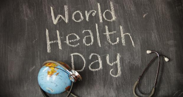 World Health Day Written On Blackboard