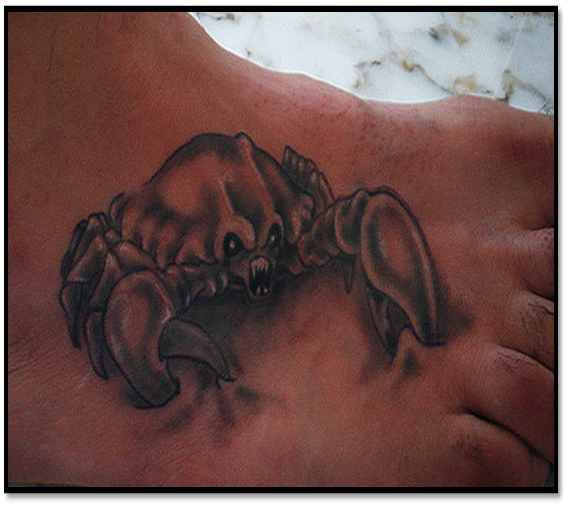 11 lung cancer tattoos for Zodiac cancer tattoos