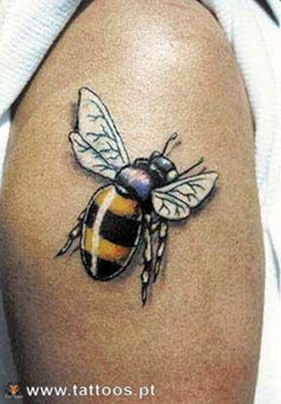 7afd40eb7 85+ Beautiful Bee Tattoos Ideas