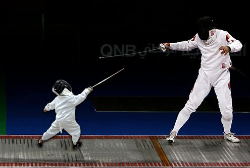Fencing Quotes Simple Baby Fencing With Man Funny Picture