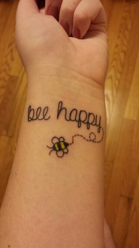 22 bee tattoos on wrist for Small bee tattoo