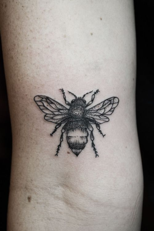 85 beautiful bee tattoos ideas. Black Bedroom Furniture Sets. Home Design Ideas