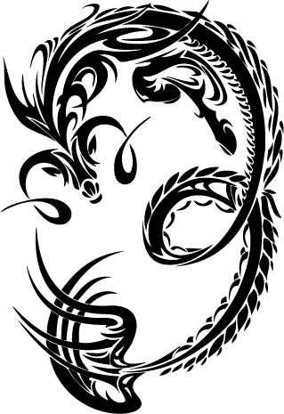 Tribal capricorn tattoo