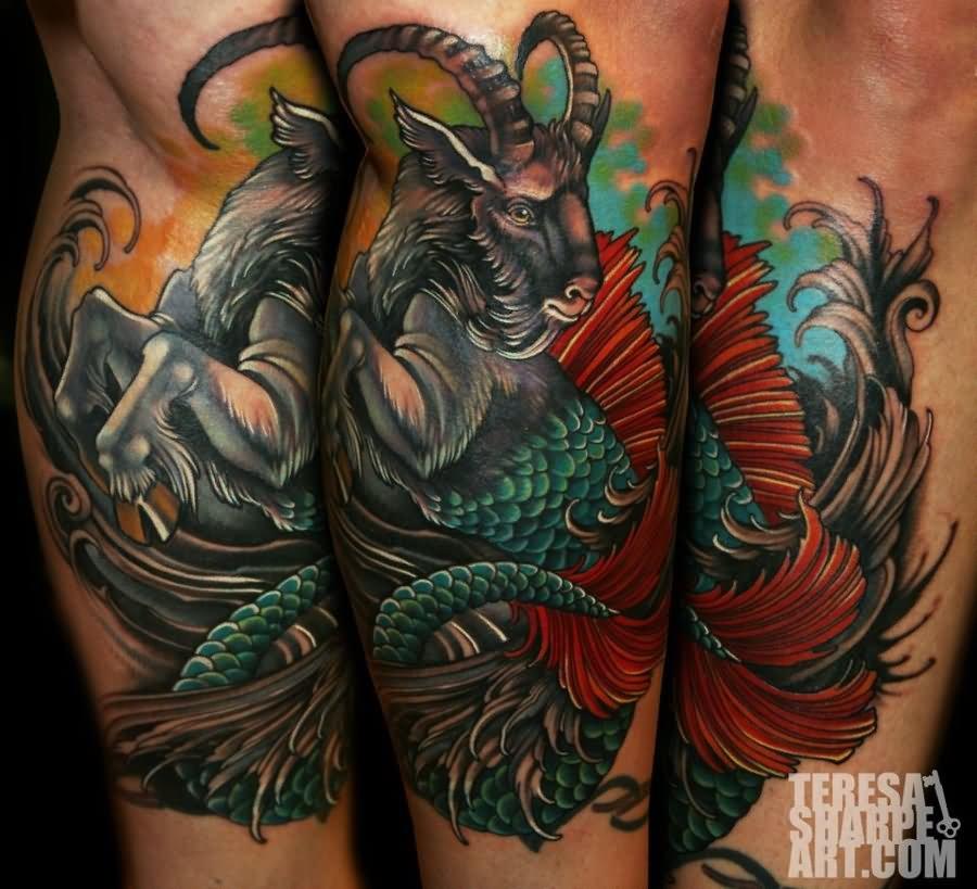 40 goat capricorn tattoos. Black Bedroom Furniture Sets. Home Design Ideas