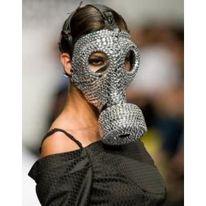 funny diamond gas mask image