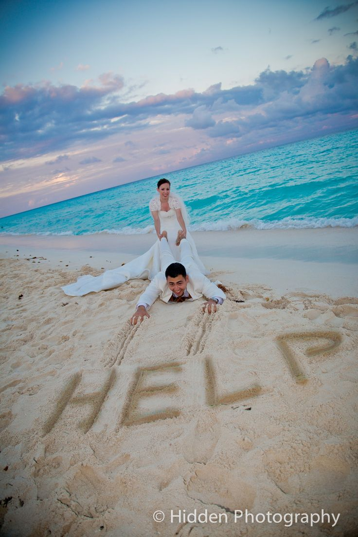 Funny Wedding Help On Beach Picture