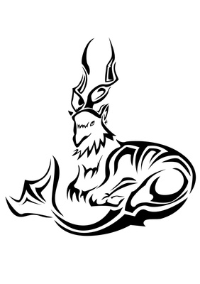 Capricorn tribal tattoo pictures
