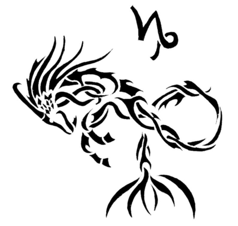 25 Tribal Capricorn Tattoos For Men