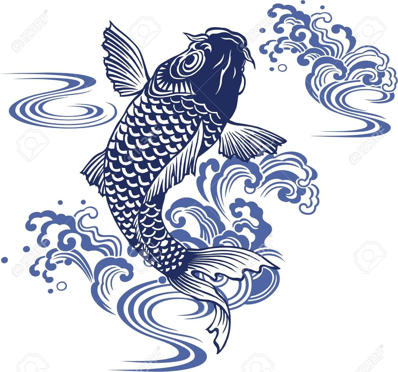 Carp fish tattoo images galleries for Carp pond design