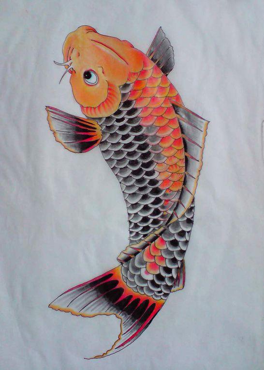 50 best carp fish tattoos for Carpe koi orange