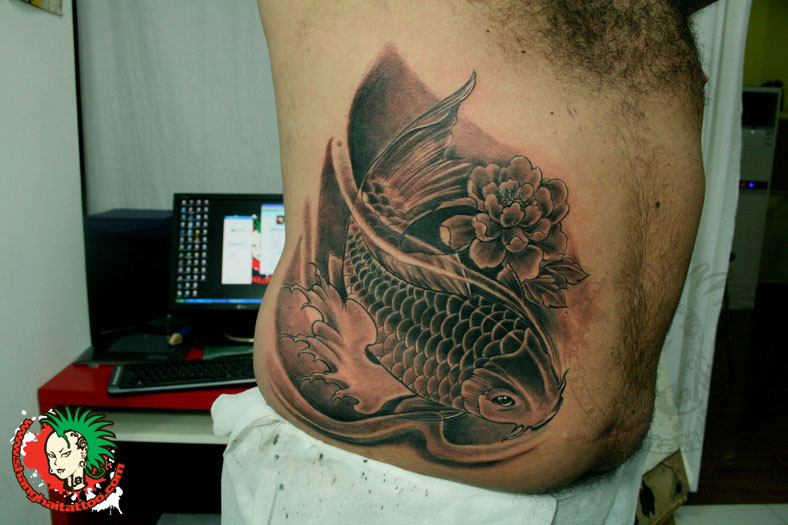 Carp Fish Tattoo Images Designs: 17+ Small Side Rib Tattoos