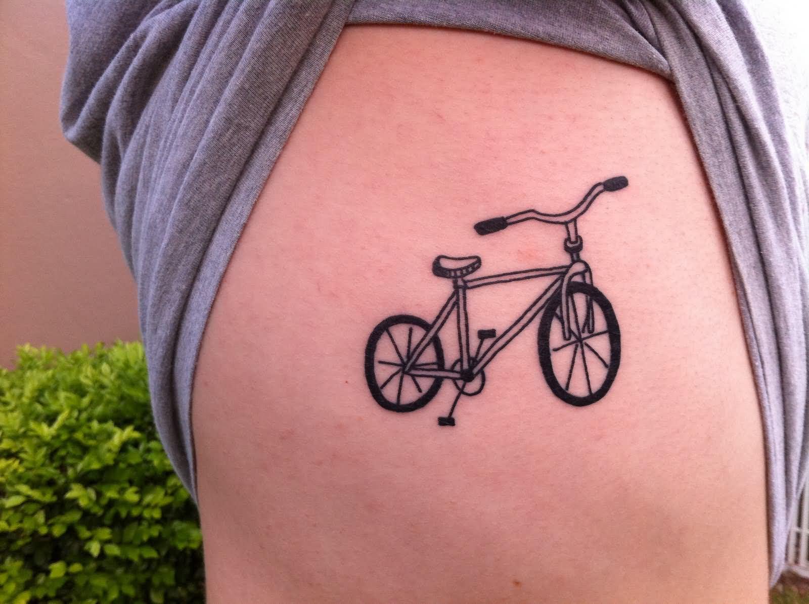 black ink key tattoo design for side rib. Black Bedroom Furniture Sets. Home Design Ideas