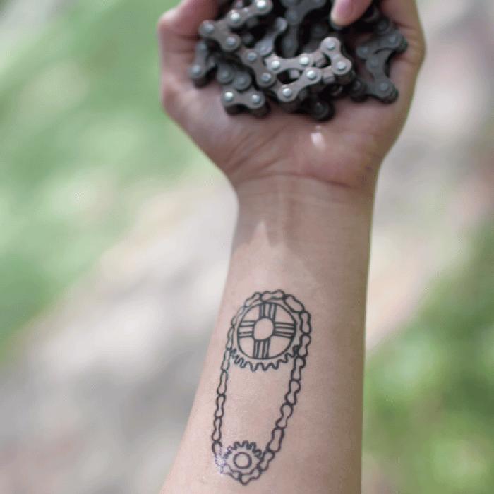 Chain Tattoo On Wrist: 25+ Fantastic Bike Gear Tattoos