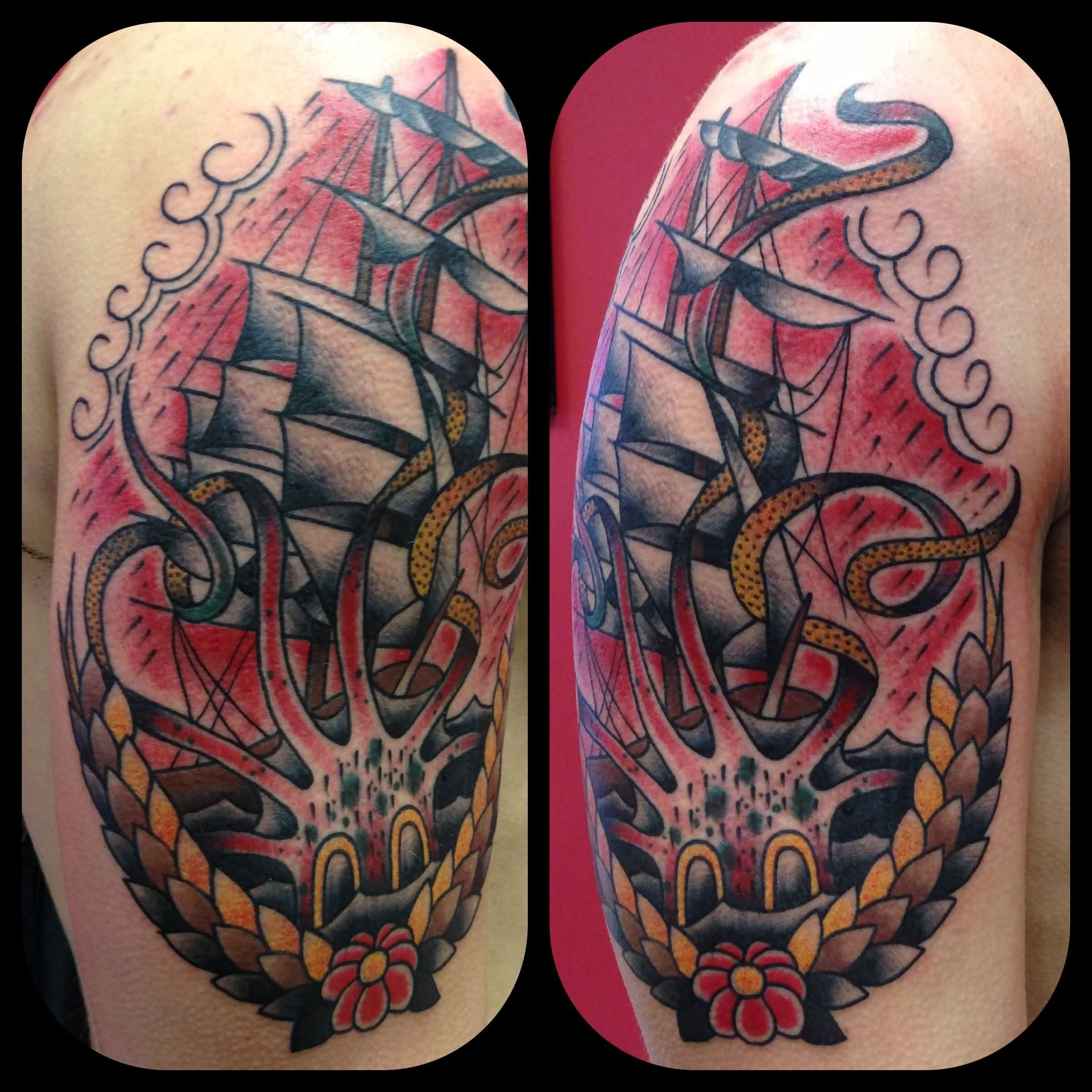 60 nice octopus ship tattoos