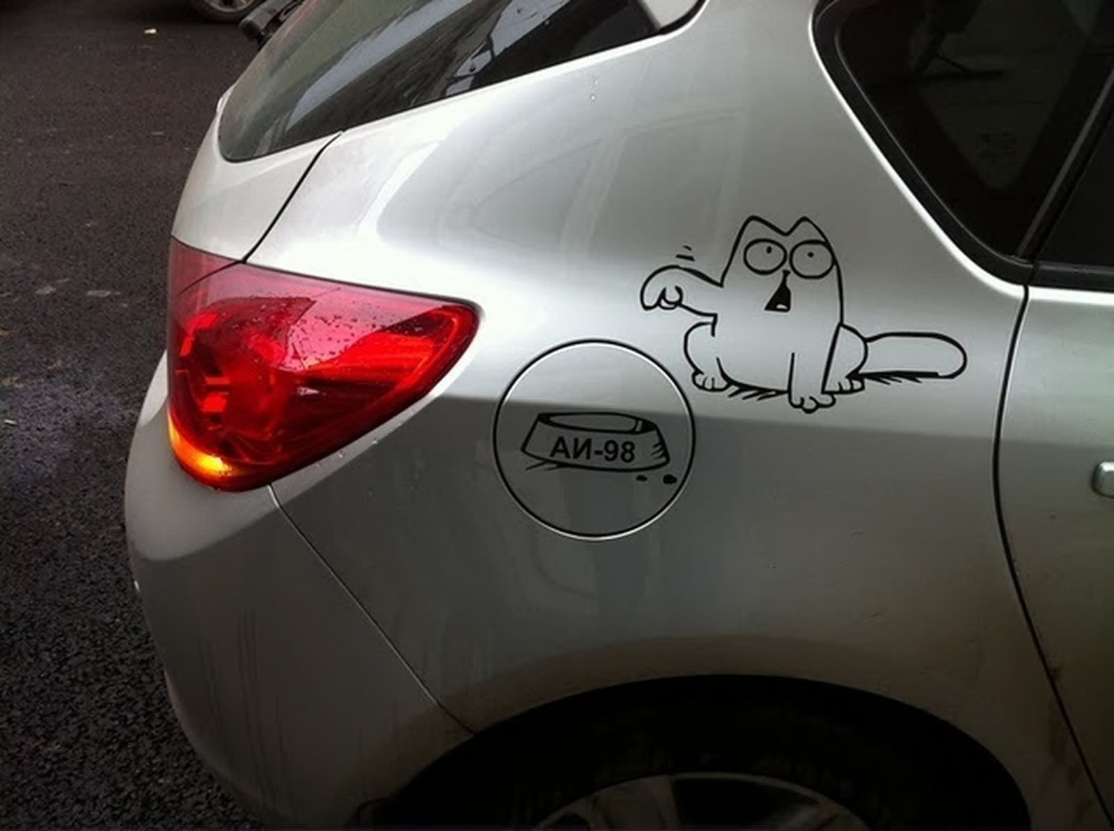 Funny car sticker image