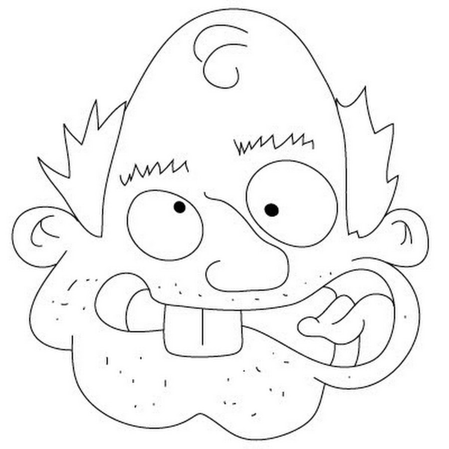 Funny Cartoon Face Drawing Picture