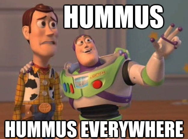 Funny Hummus Everywhere Image