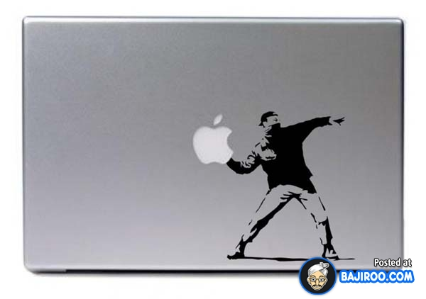 Funny laptop sticker picture