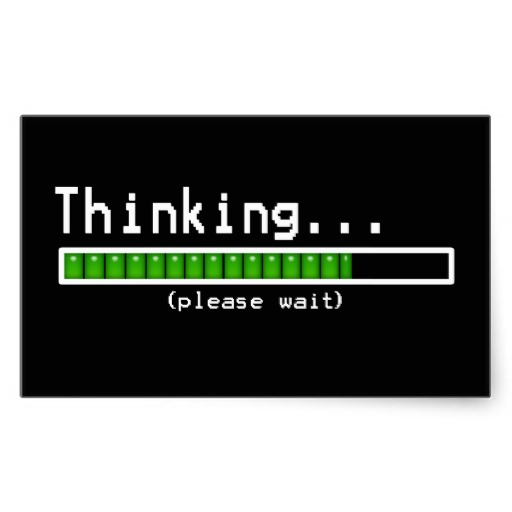 Funny thinking please wait sticker image