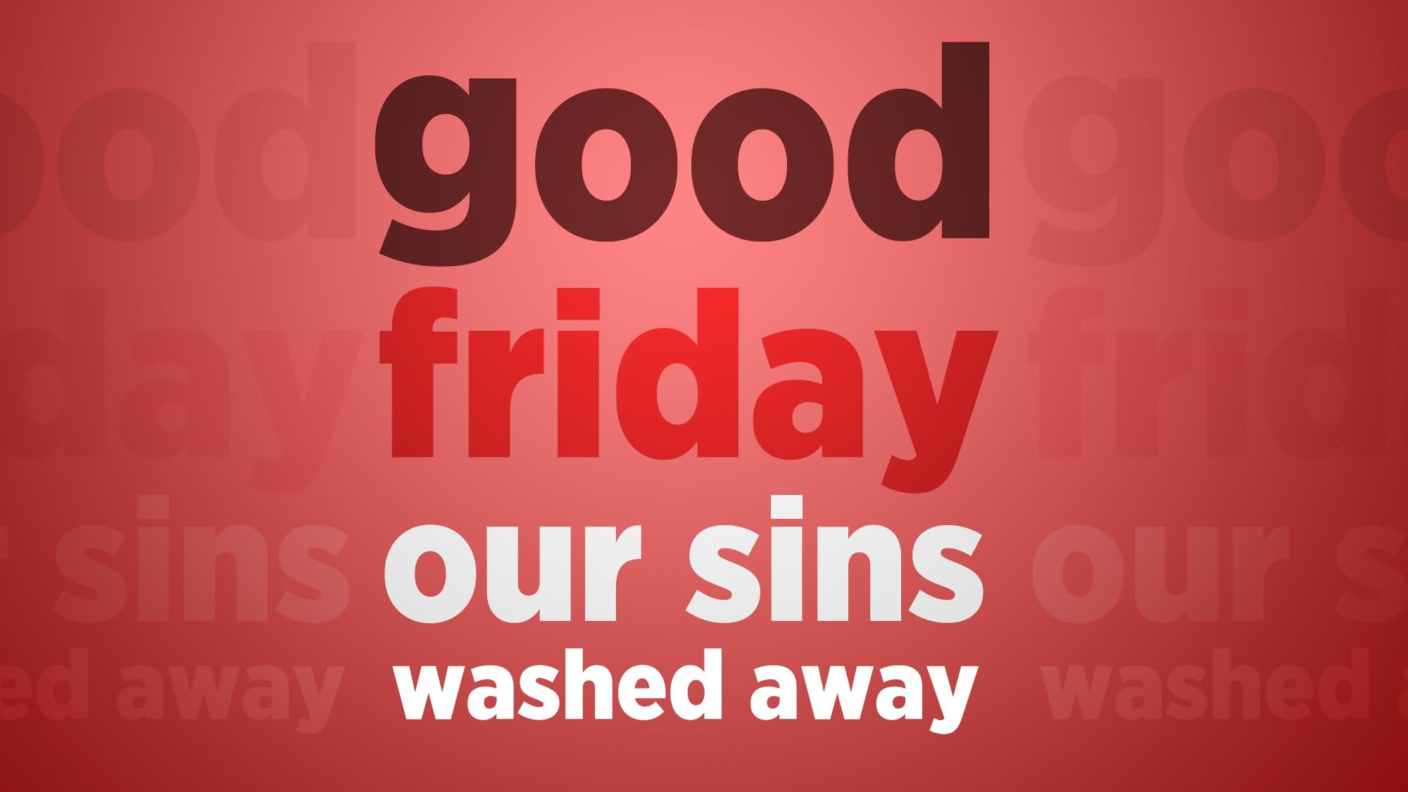 Good Friday Our Sins Washed Away