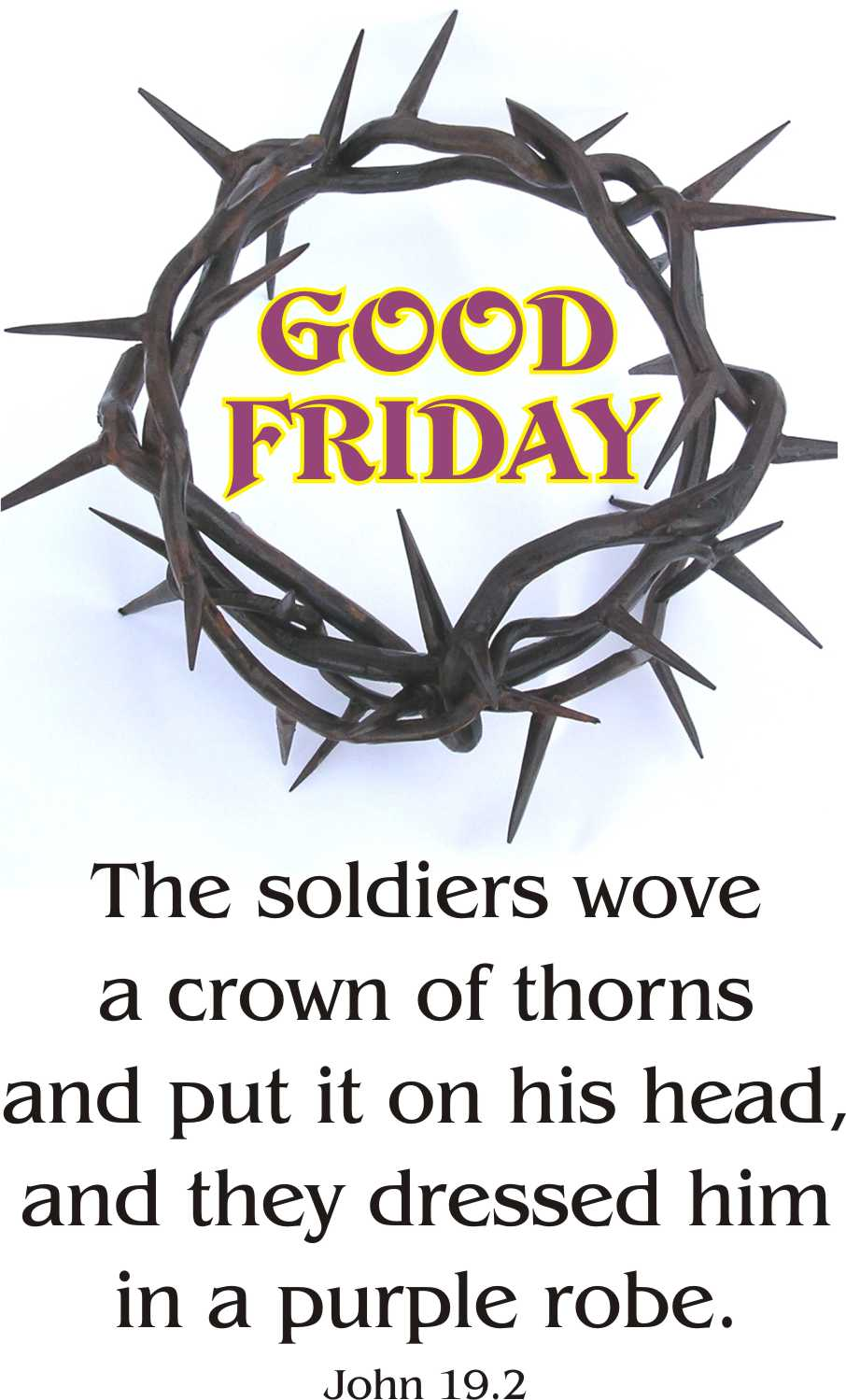 Clip Art Good Friday Clipart 20 very beautiful good friday clipart pictures the soldiers wove a crown of thorns picture