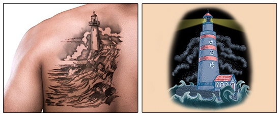 6 Lighthouse Tattoo Designs