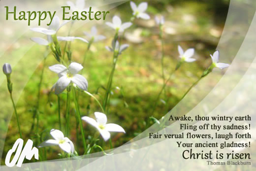 Happy Easter Awake Thou Wintry Earth Fling Off Thy Sadness
