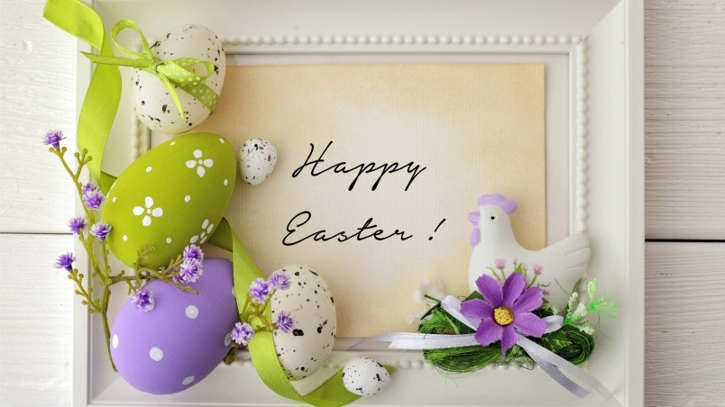Happy easter beautiful greeting card m4hsunfo