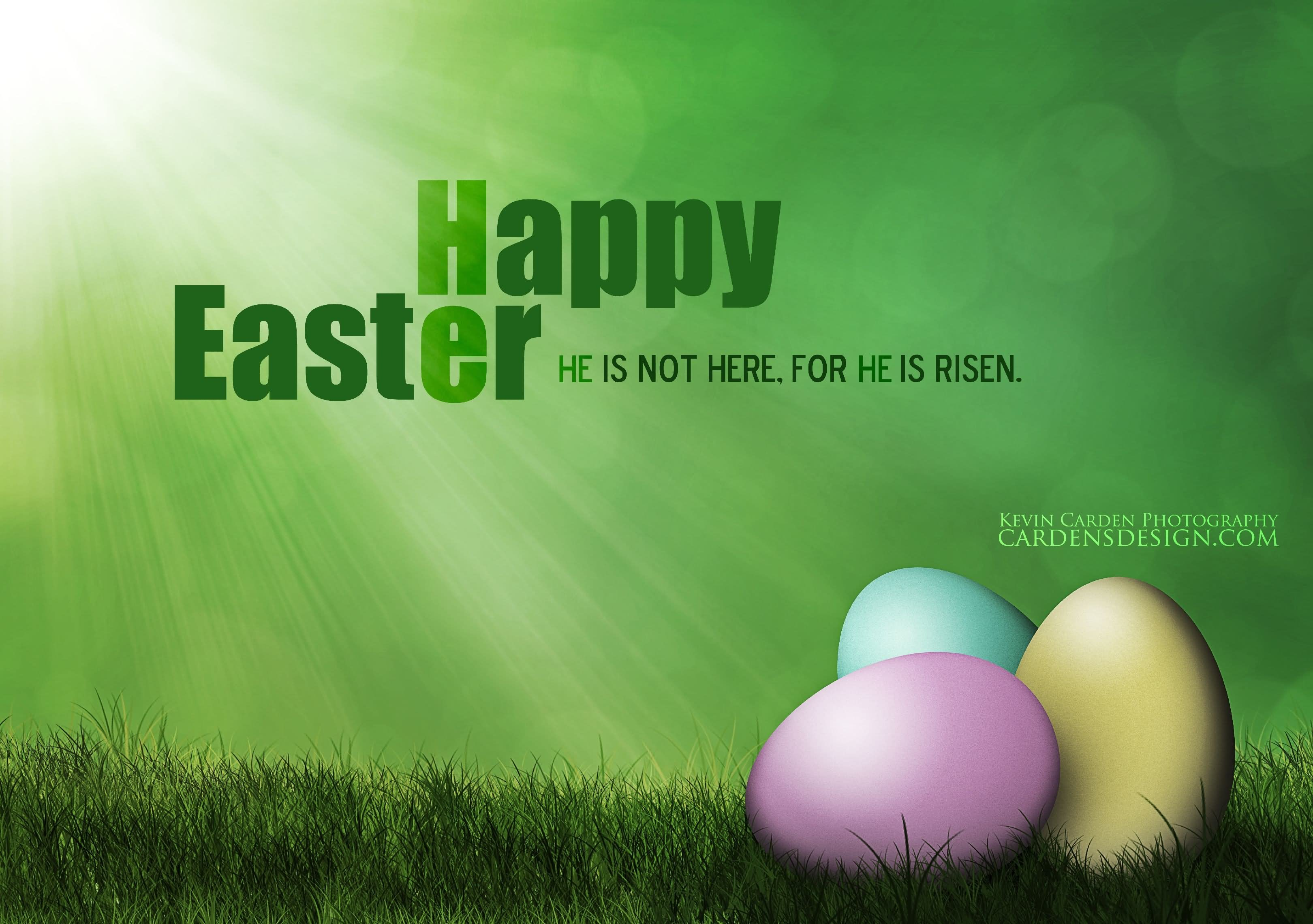 Happy Easter He Is Not Here For He Is Risen