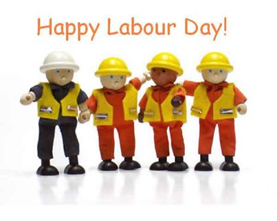 Happy Labour Day 3d Workers Picture
