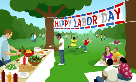 Happy Labour Day Clipart