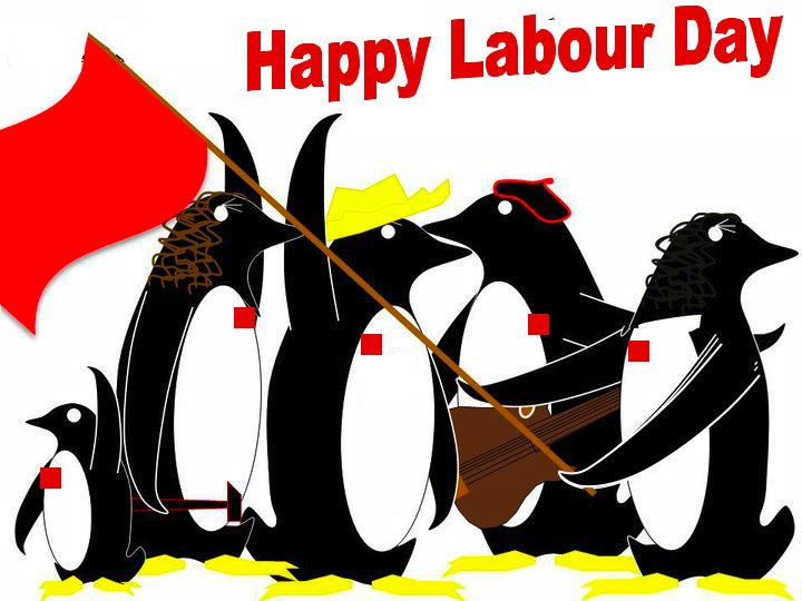 Happy Labour Day Penguins Picture