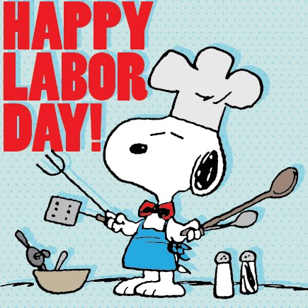 Happy Labour Day Snoopy Dog Picture