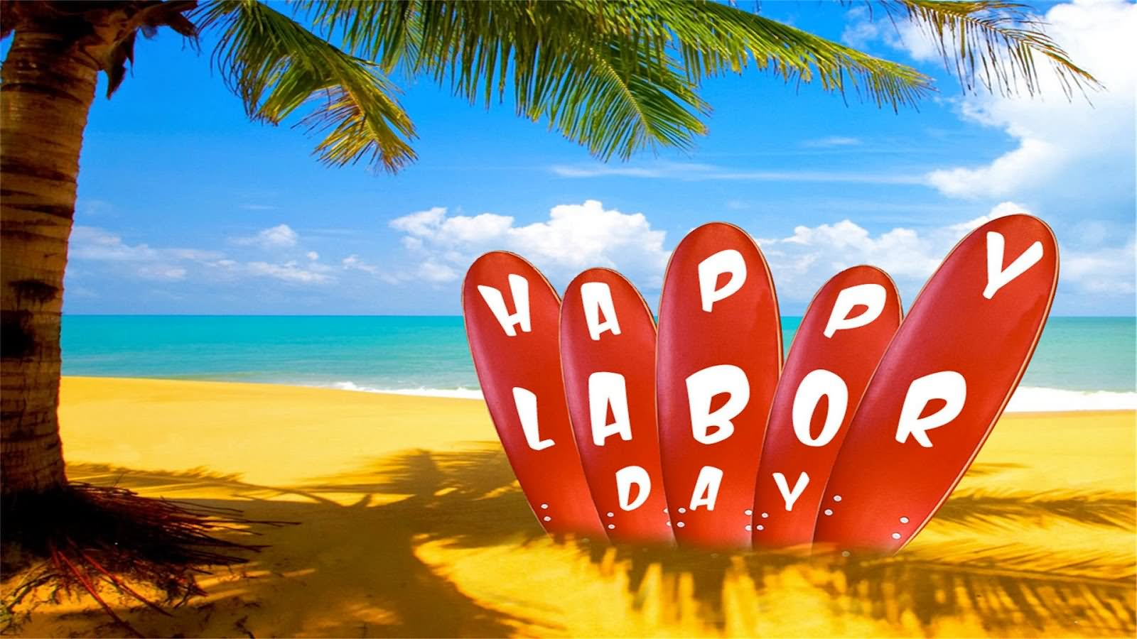Happy Labour Day Surfing Boards Picture