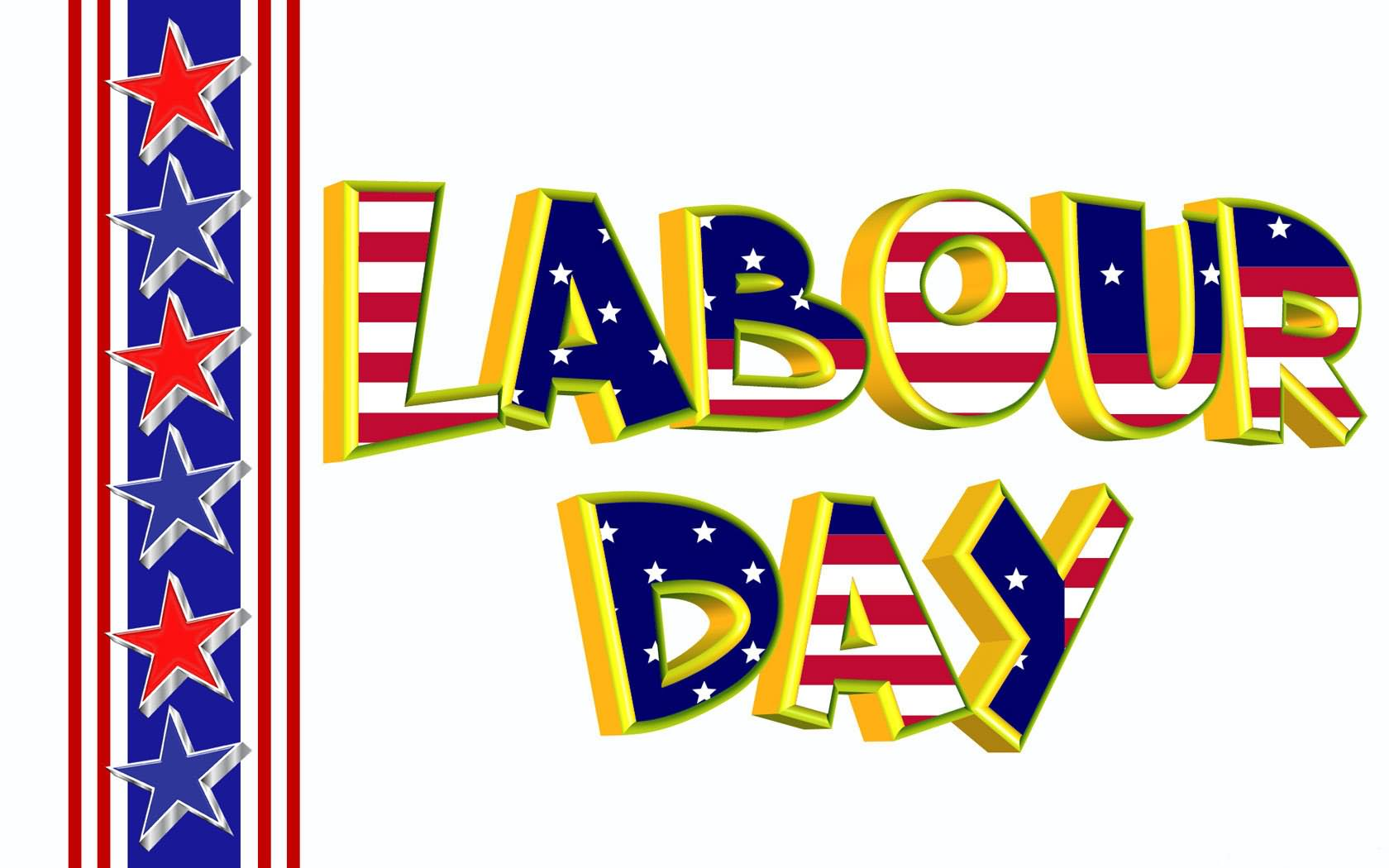 Labour Day American Flag Wishes Picture