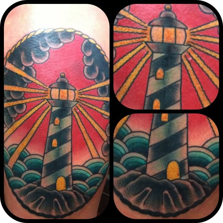 35 amazing lighthouse tattoos. Black Bedroom Furniture Sets. Home Design Ideas