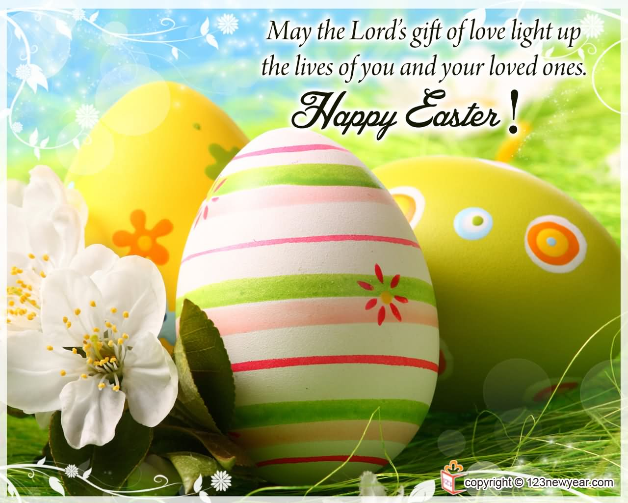 May The Lord's Gift Of Love Light Up Happy Easter