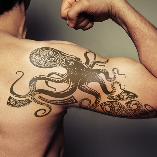 50+ Awesome Octopus Shoulder Tattoos