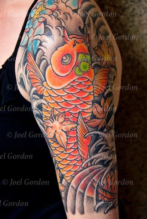 50 best carp fish tattoos for Japanese koi carp tattoos