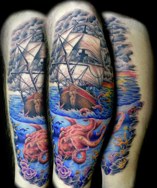 60 nice octopus ship tattoos