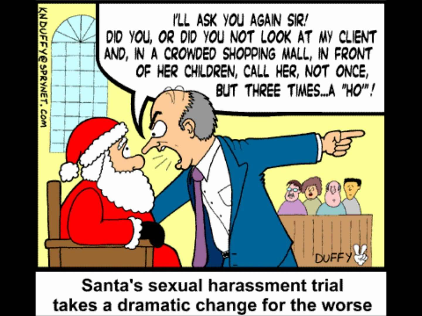 Santau0027s Sexual Harassment Trial Funny Picture
