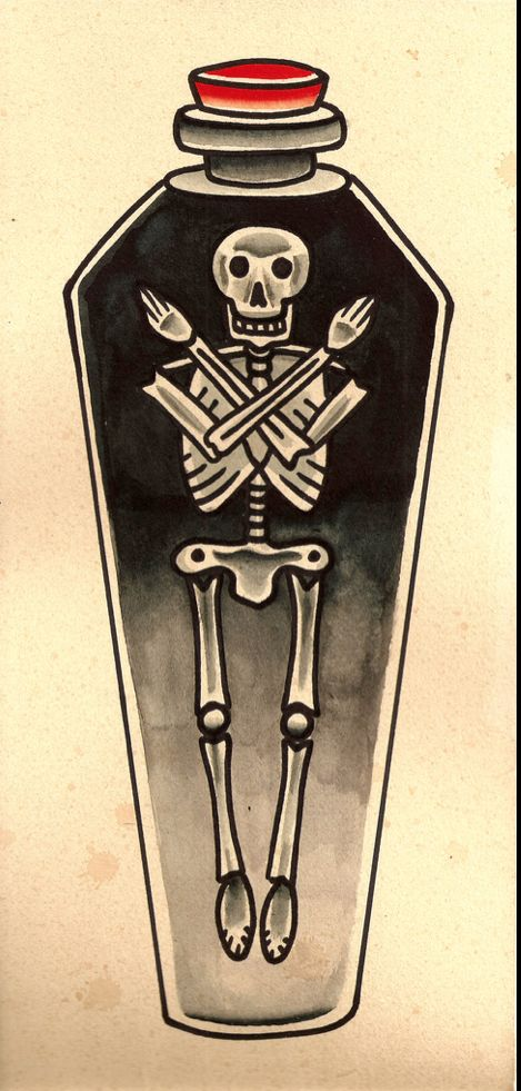 100 latest coffin tattoos