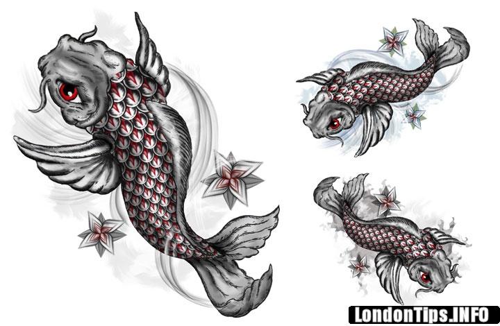 30+ Nice Carp Fish Tattoo Designs