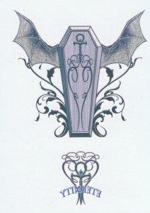 Vampire Coffin Tattoo Design