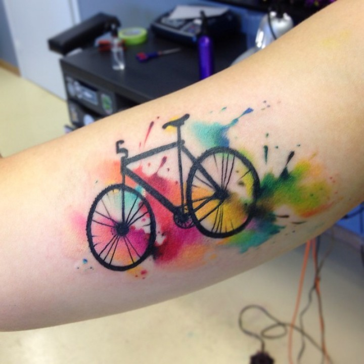 30+ Fantastic Bike Wheel Tattoos