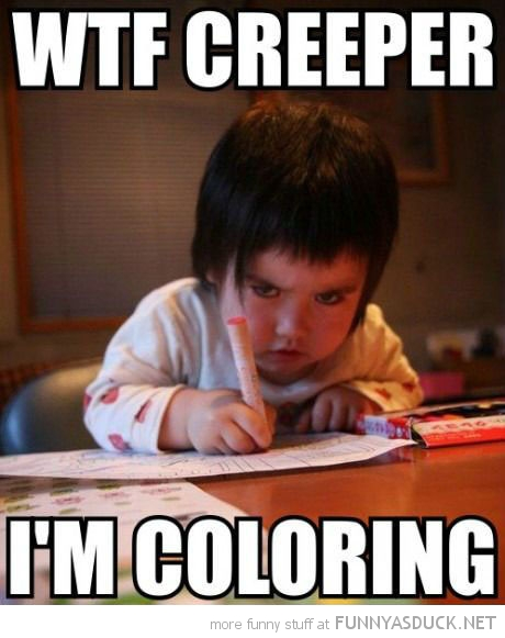 Wtf Careeper I Am Coloring Funny Kid Image