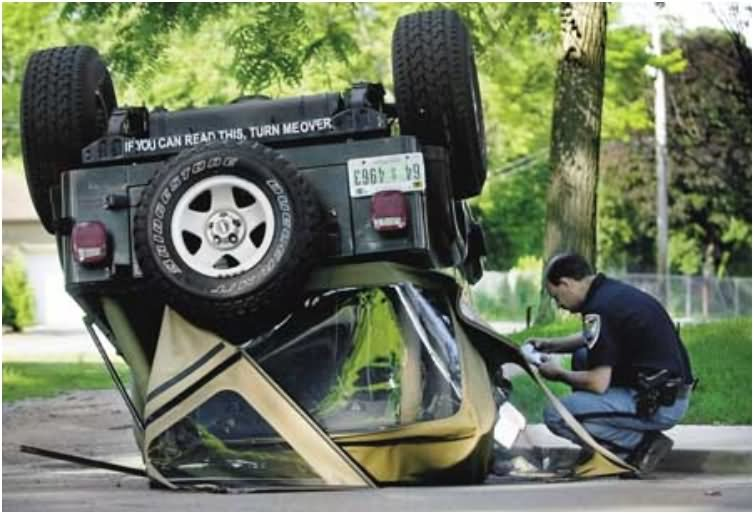 You can read this turn me over funny sticker for jeep bumper
