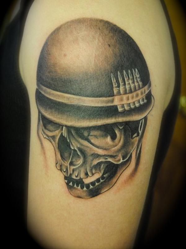 31 army skull tattoo ideas. Black Bedroom Furniture Sets. Home Design Ideas